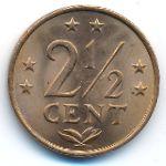 Антильские острова, 2 1/2 цента (1974 г.)