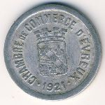 Эврё., 10 сентим (1921 г.)