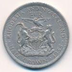 Родезия и Ньясаленд, 1/2 кроны (1955 г.)