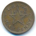 Гана, 1/2 пенни (1958 г.)