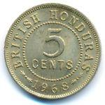 Британский Гондурас, 5 центов (1968 г.)