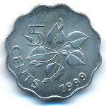 Свазиленд, 5 центов (1999 г.)
