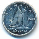 Канада, 10 центов (1963 г.)