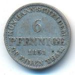 Ганновер, 6 пфеннигов (1851 г.)