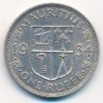Маврикий, 1 рупия (1934 г.)