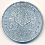 Джибути, 5 франков (1977 г.)