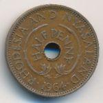 Родезия и Ньясаленд, 1/2 пенни (1964 г.)