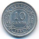 Белиз, 10 центов (1981 г.)