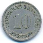 Германия, 10 пфеннигов (1874 г.)