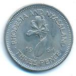 Родезия и Ньясаленд, 3 пенса (1964 г.)