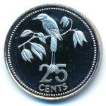 Белиз, 25 центов (1980 г.)