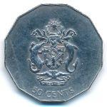 Соломоновы острова, 50 центов (1990 г.)