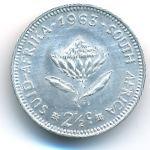 ЮАР, 2 1/2 цента (1963 г.)