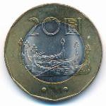 Тайвань, 20 юаней (2001 г.)