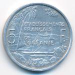 Французская Океания, 5 франков (1952 г.)