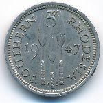 Южная Родезия, 3 пенса (1947 г.)