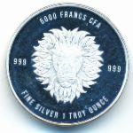 Чад, 5000 франков КФА (2018 г.)
