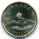 Канада, 1 доллар (2014 г.)