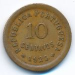 Португалия, 10 сентаво (1925 г.)