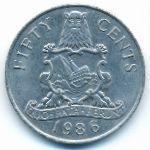 Бермудские острова, 50 центов (1986 г.)
