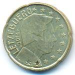 Люксембург, 20 евроцентов (2014 г.)