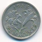 Бермудские острова, 10 центов (1983 г.)