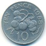 Гернси, 10 пенсов (1988 г.)