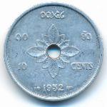 Лаос, 10 центов (1952 г.)