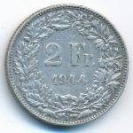 Швейцария, 2 франка (1944 г.)