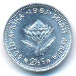 ЮАР, 2 1/2 цента (1961 г.)