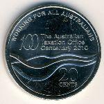 Австралия, 20 центов (2010 г.)
