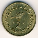 New Hebrides, 2 francs, 1970