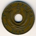 East Africa, 5 cents, 1949–1952