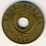 East Africa, 5 cents, 1964