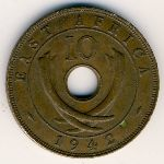 East Africa, 10 cents, 1942–1945