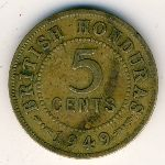 British Honduras, 5 cents, 1949–1952