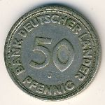 West Germany, 50 pfennig, 1949–1950