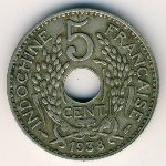 French Indo China, 5 cents, 1923–1938