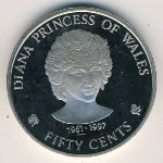 Cook Islands, 50 cents, 1997