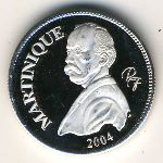 Martinique, 1/4 euro, 2004