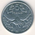 New Caledonia, 5 francs, 1983–2008