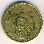 Бельгия, 5 франков (1986 г.)