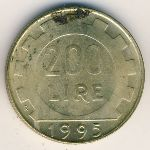Италия, 200 лир (1978–1998 г.)