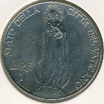 Vatican City, 1 lira, 1939