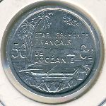 French Oceania, 50 centimes, 1949