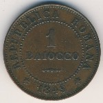Papal States, 1 baiocco, 1849