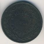 Остров Святой Елены и острова Вознесения, 1/2 пенни (1821 г.)