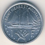 Saint Pierre and Miquelon, 1 franc, 1948