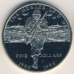 Marshall Islands, 5 dollars, 1994