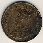 South Africa, 1 penny, 1926–1930